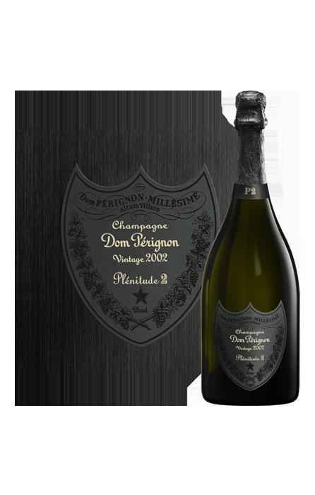 Bouteille étiquette Dom Pérignon Plénitude 2 2002