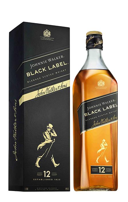 Johnnie Walker Black Label Bouteille 1 L sous étui