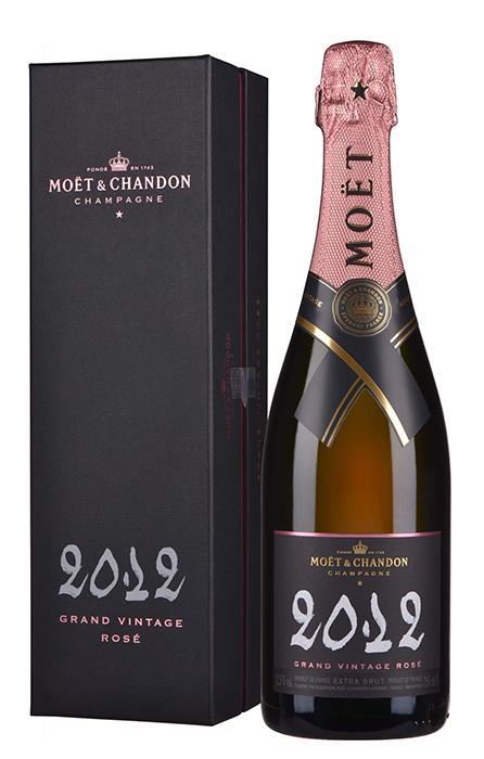 Bouteille sous étui Moet & Chandon Grand Vintage Rosé 2012