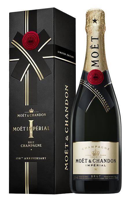 Bouteille sous étui 150 ans Noir Moet & Chandon Imperial