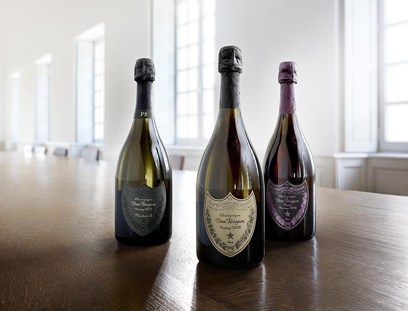 Dom Pérignon Vintage 2008, Rosé 2006 et Plénitude 2002