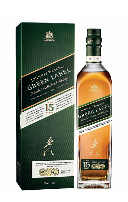 Johnnie Walker Green Label 70cl sous etui